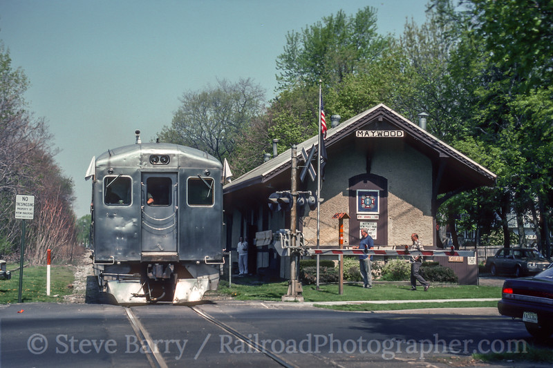 Photo 5037<br /> New York, Susquehanna & Western<br /> Maywood, New Jersey<br /> May 1993