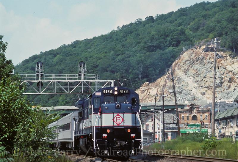 Photo 3596<br /> New Jersey Transit; Suffern, New York<br /> August 27, 1994