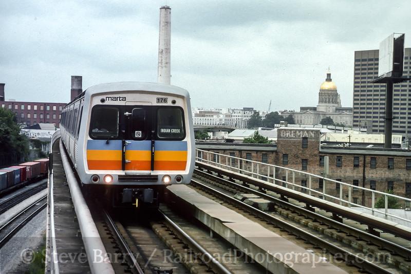 Photo 4567<br /> Metropolitan Atlanta Rapid Transit Authority<br /> King Memorial, Atlanta, Georgia<br /> June 1994