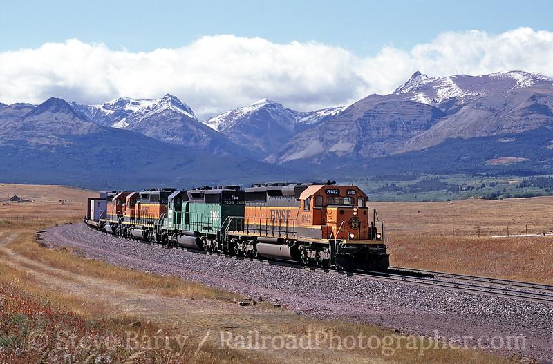 Photo 0222 Burlington Northern & Santa Fe; Grizzley, Montana April 2001