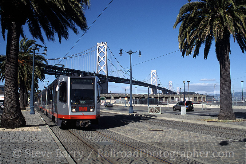 Photo 0335<br /> Muni; The Embarcadero, San Francisco, California<br /> March 2002
