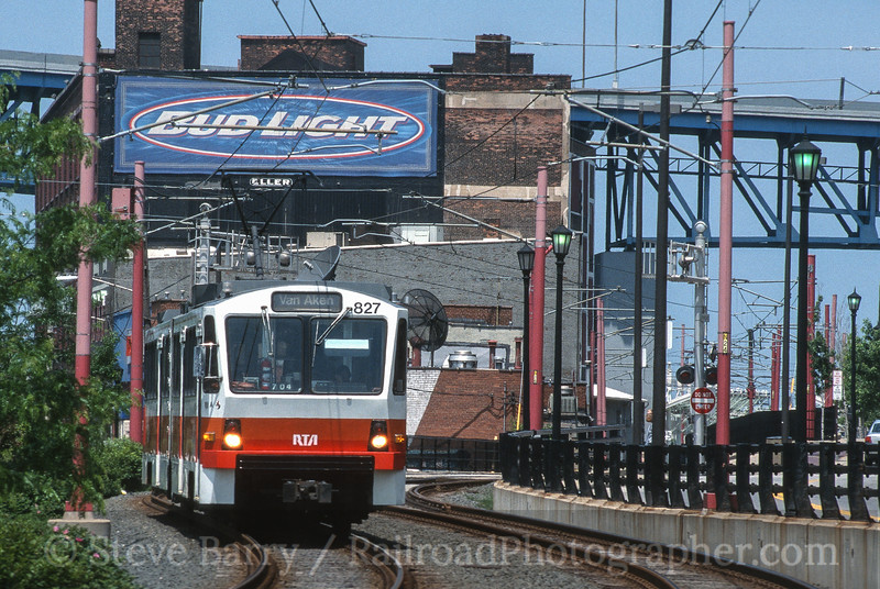 Photo 4178<br /> Greater Cleveland Regional Transit Authority; Settlers' Landing. Cleveland, Ohio<br /> June 2002