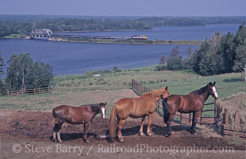 Photo 0564<br /> VIA Rail Canada; Boisdale, Nova Scotia<br /> July 2002