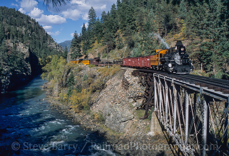 Photo 4192<br /> Durango & Silverton Narrow Gauge; Tacoma, Colorado<br /> October 8, 2003