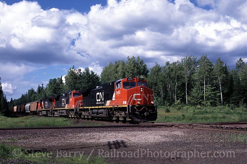 Photo 0123<br /> Canadian National (Duluth, Winnipeg & Pacific); Ramshaw, Minnesota<br /> July 2004