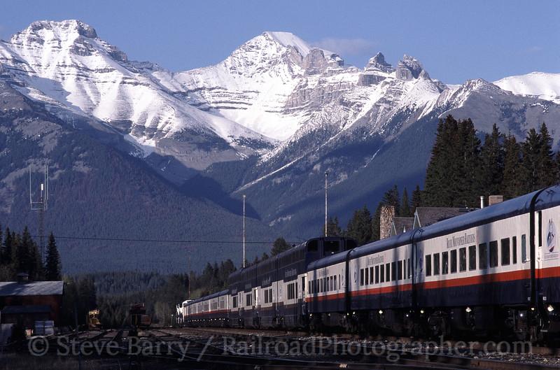 Photo 1414<br /> Rocky Mountain Rail Tours; Banff, Alberta<br /> May 2004