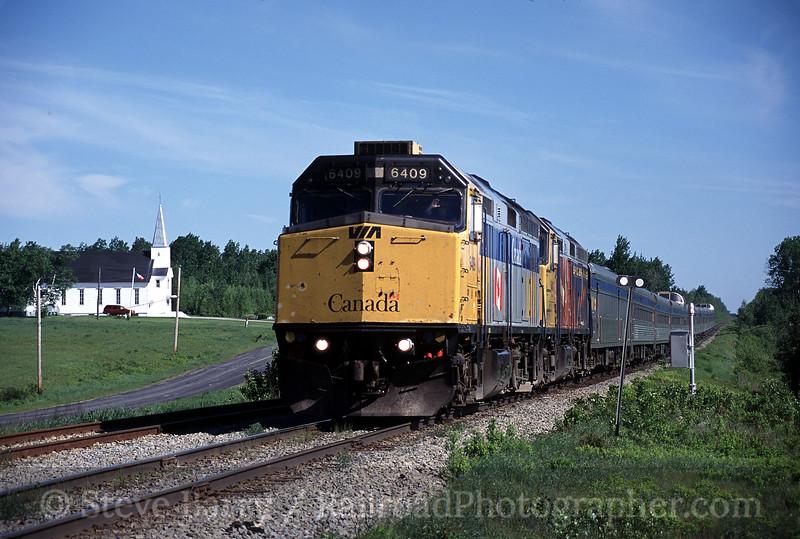 Photo 0563<br /> VIA Rail Canada; Beaver Brook, New Brunswick<br /> June 20, 2005