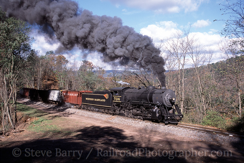 Photo 0576<br /> Western Maryland Scenic; Corriganville, Maryland<br /> October 2005