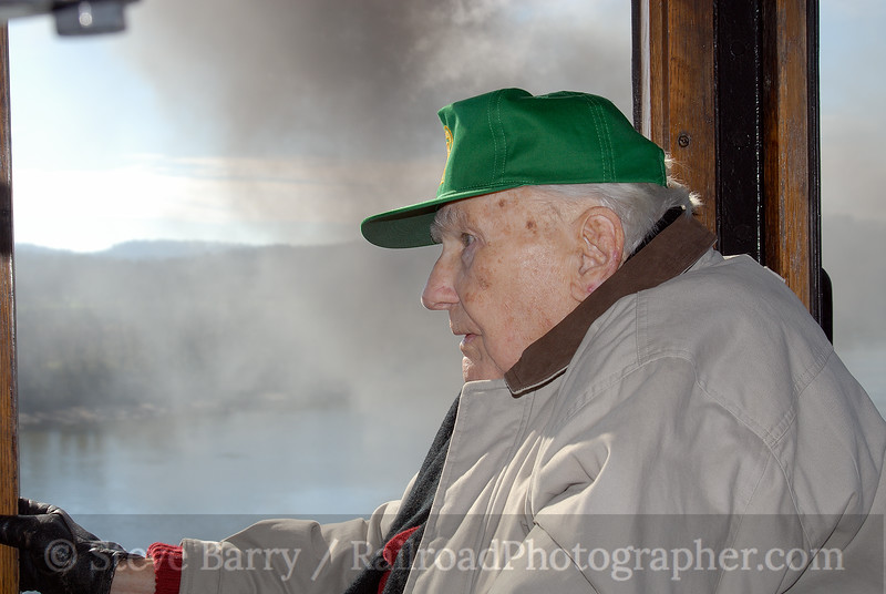Photo 0841<br /> William J. Purdie on the Three Rivers Rambler; Knoxville, Tennessee<br /> December 2, 2006