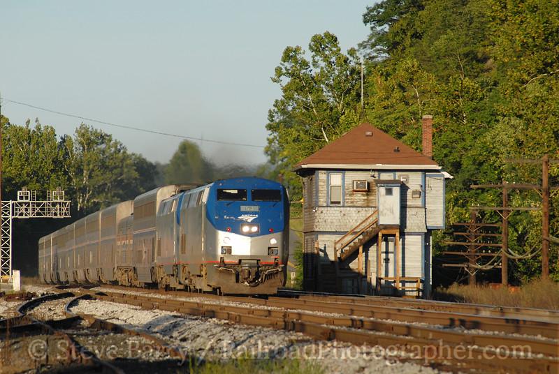 Photo 0732<br /> Amtrak; Hancock, West Virginia<br /> August 11, 2006