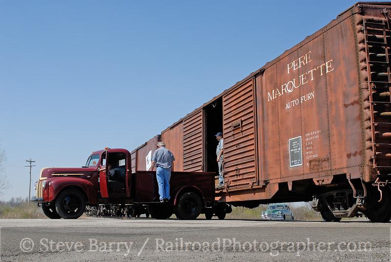 Photo 0963<br /> Steam Railroading Institute; Owosso, Michigan<br /> April 22, 2007