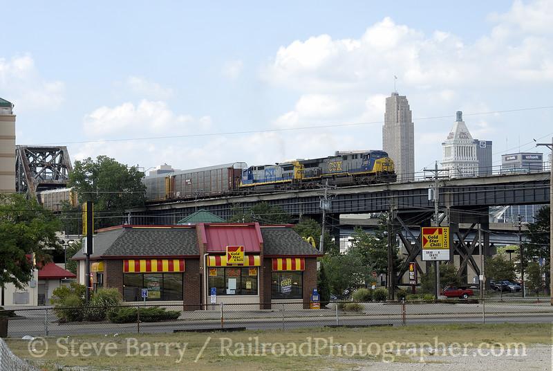 Photo 0998<br /> CSX Transportation; C&O Bridge, Covington, Kentucky<br /> August 10, 2007