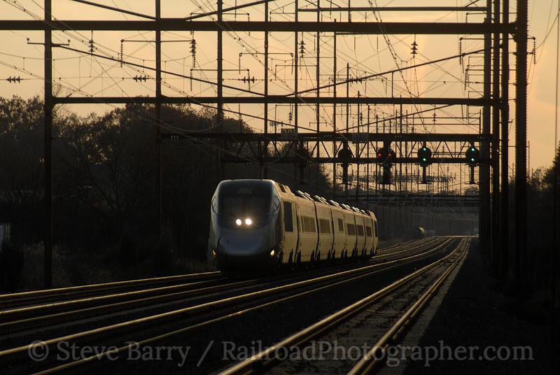 Photo 1072<br /> Amtrak; Eddington, Pennsylvania<br /> November 25, 2007