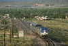 Photo 0908<br /> Amtrak and New Mexico Rail Runner; Isleta, New Mexico<br /> May 15, 2007