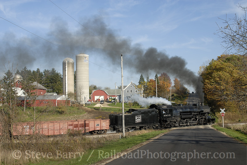 Photo 1025<br /> Soo Line 1003; Woodland, Wisconsin<br /> October 21, 2007