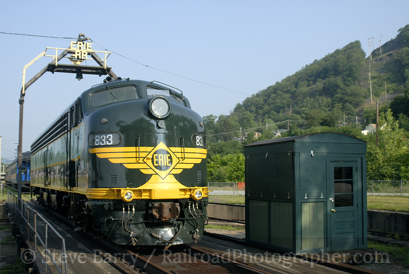 Photo 0991<br /> Erie 833; Port Jervis, New York<br /> August 4, 2007