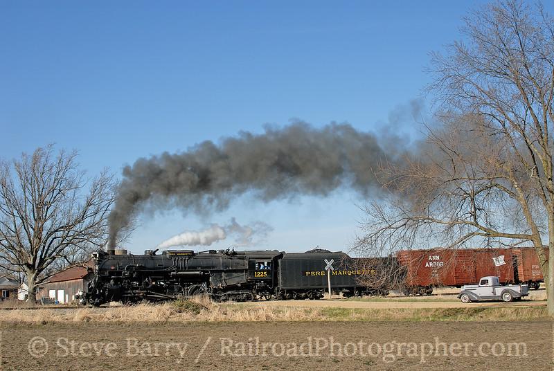 Photo 0959<br /> Pere Marquette 1225; Owosso, Michigan<br /> April 21, 2007