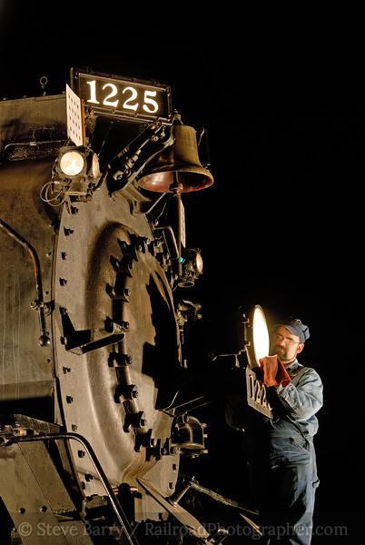 Photo 0960<br /> Pere Marquette 1225; Owosso, Michigan<br /> April 20, 2007