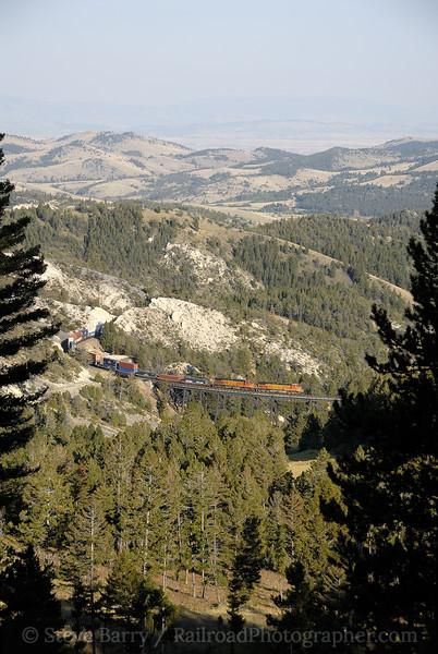 Photo 1283<br /> BNSF Railway (Montana Rail Link); Skyline, Montana<br /> September 17, 2008