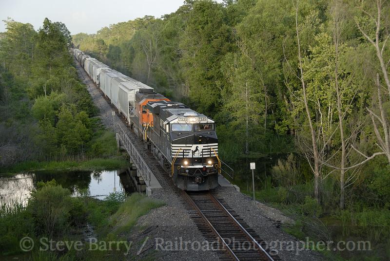 Photo 1193<br /> BNSF Railway; Gibson, Louisiana<br /> June 9, 2008