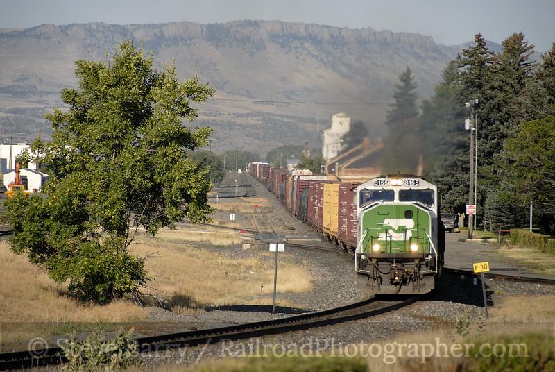 Photo 1284<br /> BNSF Railway (Montana Rail Link); Livingston, Montana<br /> September 16, 2008