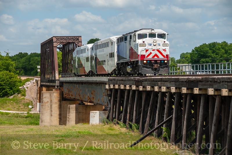 Trinity Railway Express; Fort Worth TX; 6/7/08