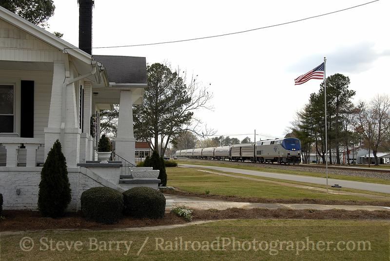 Photo 1116<br /> Amtrak; Micro, North Carolina<br /> March 24, 2008