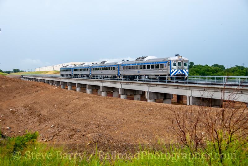 Trinity Railway Express; Centreport TX; 6/19/08