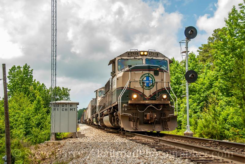 BNSF (on KCS); Rich Mountain AR; 6/13/08