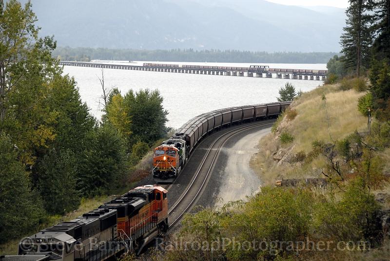 Photo 1335<br /> BNSF Railway; Bottle Bay, Sandpoint, Idaho<br /> September 20, 2008
