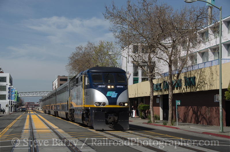 Photo 2638<br /> Amtrak; Jack London Square, Oakland, California<br /> March 13, 2013