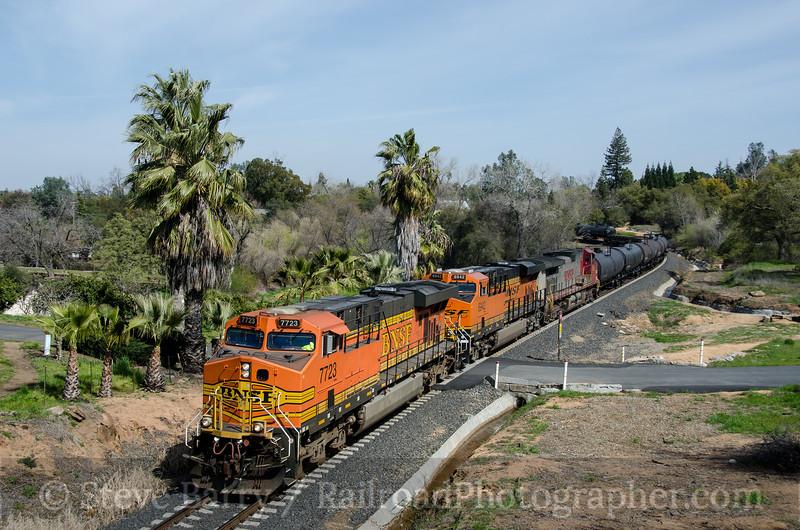 Photo 2618<br /> BNSF Railway (on UP); Penryn, California<br /> March 10, 2013