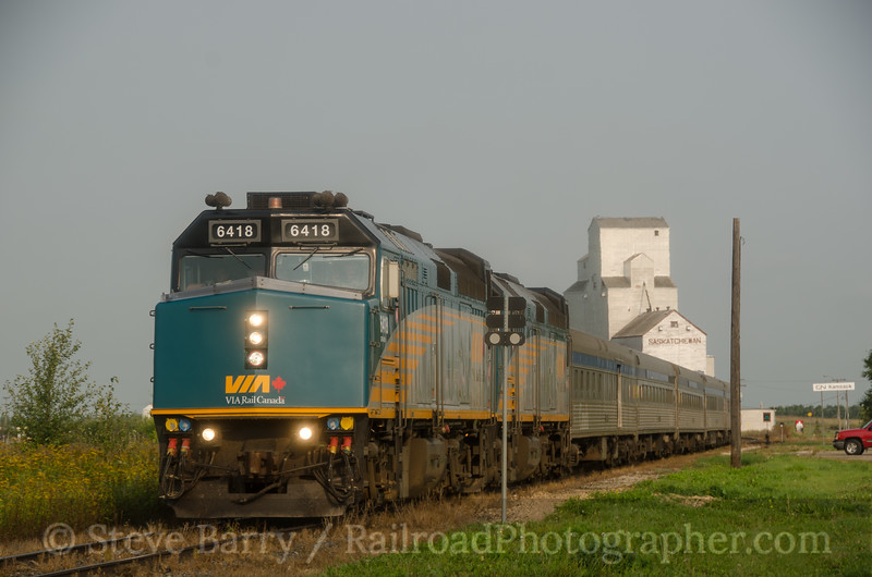 Photo 2771<br /> VIA Rail Canada; Kamsack, Saskatchewan<br /> August 24, 2013