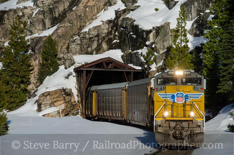 Photo 2632<br /> Union Pacific; Yuba Pass, California<br /> March 11, 2013
