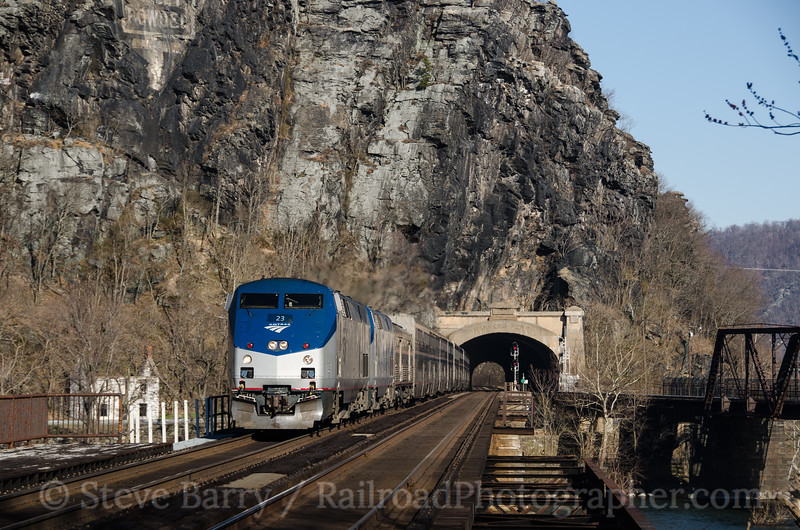 Photo 2642<br /> Amtrak; Harpers Ferry, West Virginia<br /> March 22, 2013