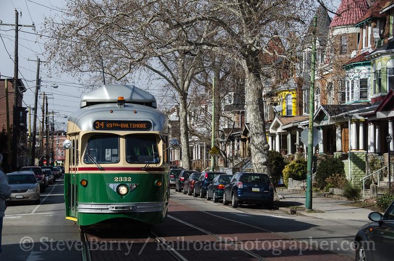 Photo 2572 Southeastern Pennsylvania Transportation Authority; 49th & Warrington,  Philadelphia, Pennsylvania February 2, 2013