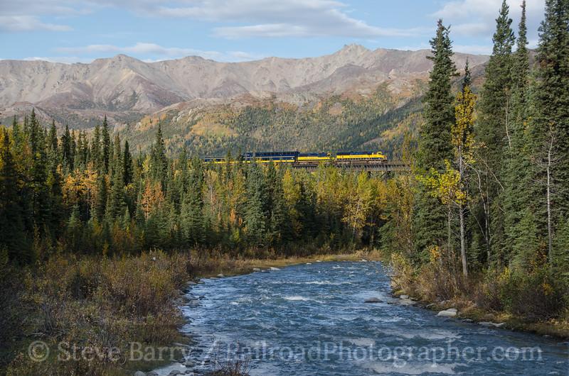 Photo 2794<br /> Alaska Railroad; Riley Creek Trestle, Denali Park, Alaska<br /> September 16, 2013