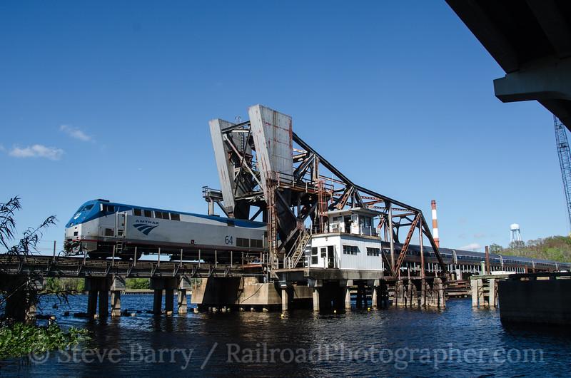 Photo 2575<br /> Amtrak; Lake Monroe, Sanford, Florida<br /> February 8, 2013