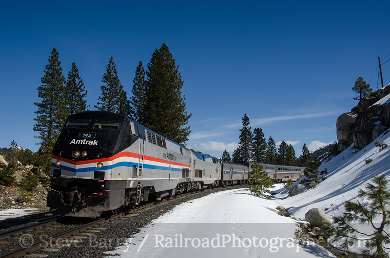 Photo 2629<br /> Amtrak; Yuba Pass, California<br /> March 11, 2013
