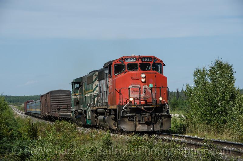 Photo 2770<br /> Keewatin Railway; Cranberry Portage, Manitoba<br /> August 23, 2013