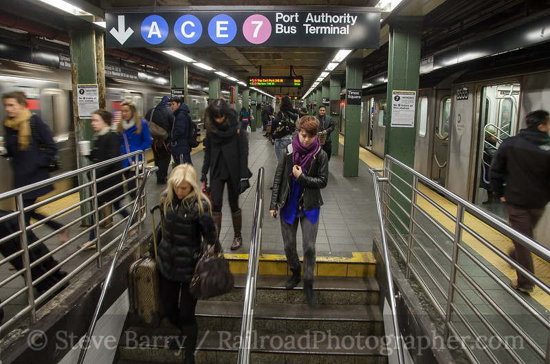 Photo 2556<br /> New York City Transit Authority; Times Square, New York, New York<br /> January 21, 2013