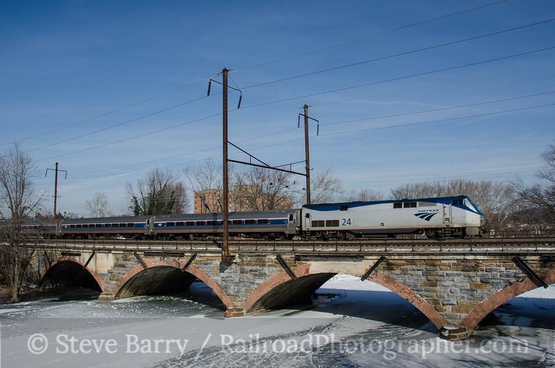 Photo 2552<br /> Amtrak; Middletown, Pennsylvania<br /> January 27, 2013