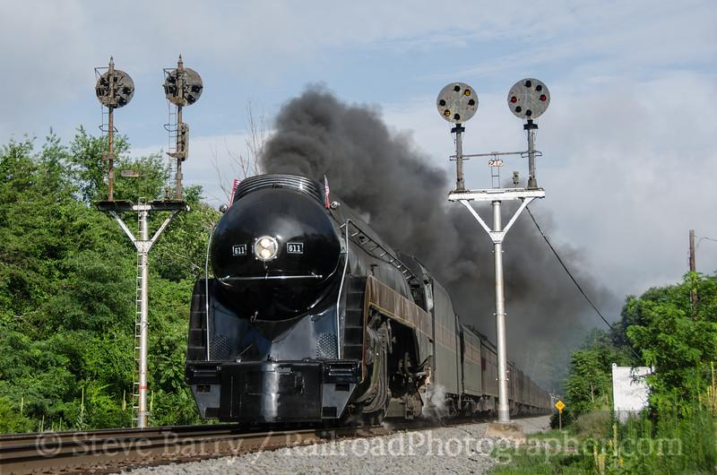 Photo 3437<br /> Norfolk & Western 611; Montvale, Virginia<br /> July 4, 2015