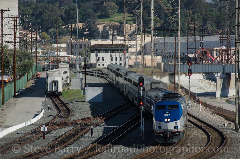 Photo 3344<br /> Amtrak; Cesar Chavez Street, Los Angeles, California<br /> March 17, 2015