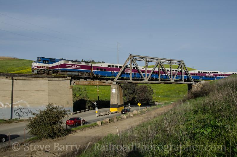 Photo 3328<br /> Altamont Commuter Express; Altamont, California<br /> March 12, 2015