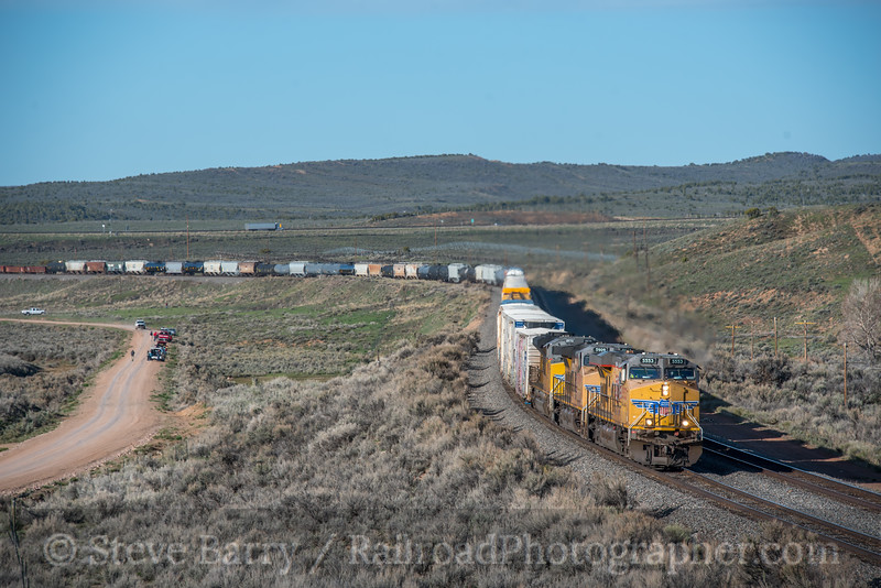 Photo 5553<br /> Union Pacific<br /> Leroy Road, Fort Bridger, Wyoming<br /> May 6, 2019