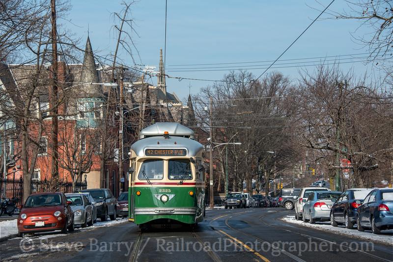Photo 5461<br /> Southeastern Pennsylvania Transportation Authority<br /> 42nd & Osage, Philadelphia, Pennsylvania<br /> February 2, 2019