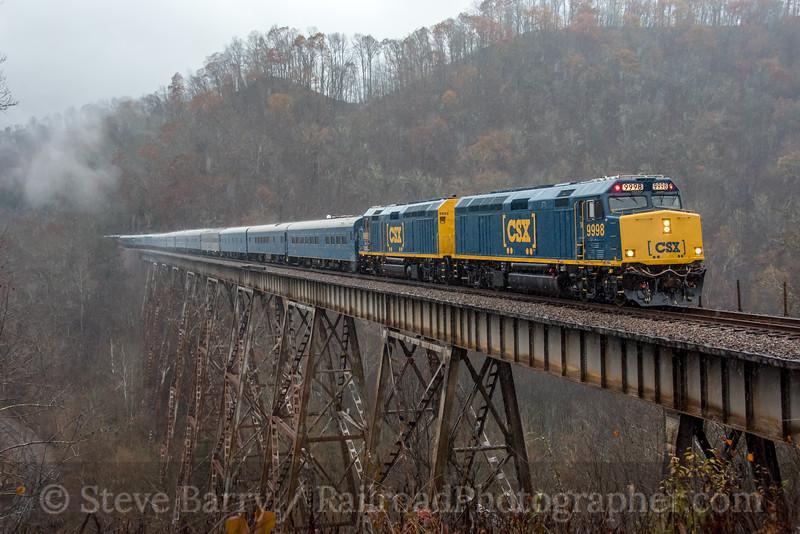 CSX Santa Train; Speers Ferry VA; 11/23/19