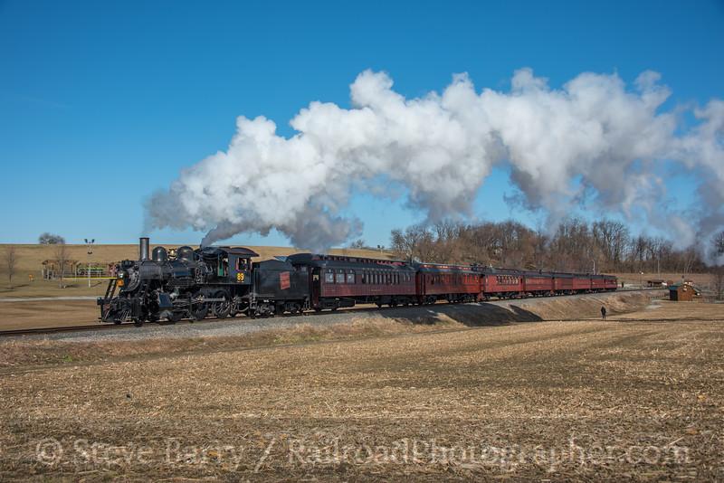 Photo 5476<br /> Strasburg Rail Road<br /> Strasburg, Pennsylvania<br /> February 16, 2019
