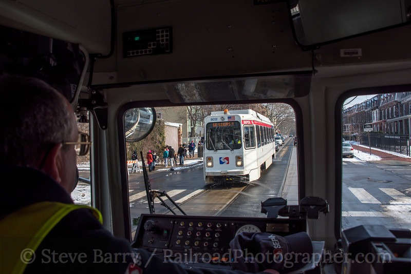 Photo 5458<br /> Southeastern Pennsylvania Transportation Authority<br /> Chester & 43rd, Philadelphia, Pennsylvania<br /> February 2, 2019